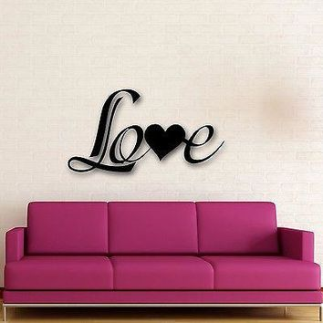 Wall Stickers Vinyl Decal Romantic Love Lettering Coolest Home Decor Unique Gift (ig668)