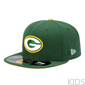 NFL Green Bay Packers On Field 5950 Game Cap, Dark Green, 6 1/2, Youth