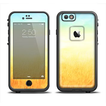 The Painted Tall Grass with Sunrise Apple iPhone 6 LifeProof Fre Case Skin Set