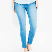 Blue Asphalt™ Perfect Denim Ankle Legging | Wet Seal