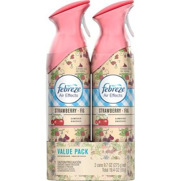 Febreze Air Effects Strawberry Fig Air Freshener Value Pack, 9.7 Oz, (Pack  Of 2)   Wal