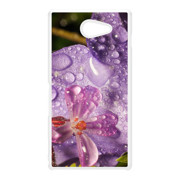 Wet Flower White Hard Plastic Case for Sony M2 by Mick Agterberg