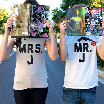 His-and-Hers Harley Quinn and Joker Shirts: Mr. & Mrs. J