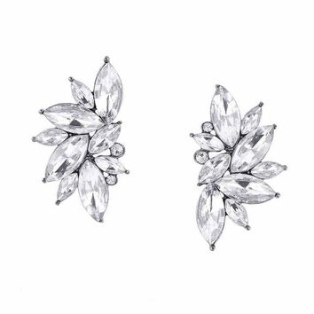 vintage design crystal earring women statement stud Earrings for women earring