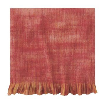 Ben and Jonah Confetti Throw Blanket with Fringe (Newport Red)