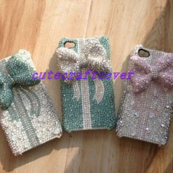 iPhone 5s 3d bow iPhone cases Phone covers swarovski crystals iPhone 4 case iPhone 5 case iPod 5 case iPod 4 case Cute iPhone Case iPhone 5c