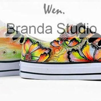 DCKL9 Italy Venice Glass Low Style Top Studio Hand Painted Shoes 49.99Usd,Paint On Custom Co