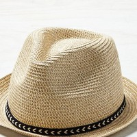 AEO Women's Straw Fedora (Natural)