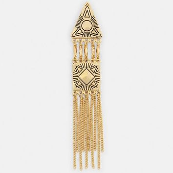 Missguided - Gold Drop Triangle Earrings