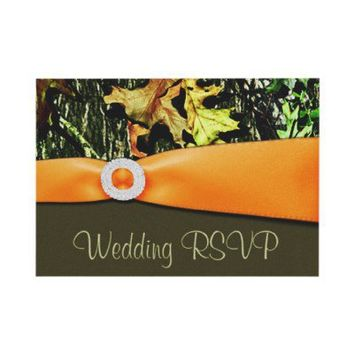 Hunting Camo RSVP Wedding Cards Invitation from Zazzle.com