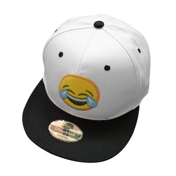 Emoji Smile Tears Face - Embroidered Cute, Graphic, Cool Baseball Cap - Sports & Leisure Hat