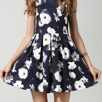 Little Black Summer Dress With Flower Print
