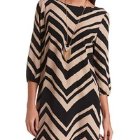 Woven Chevron Shift Dress: Charlotte Russe