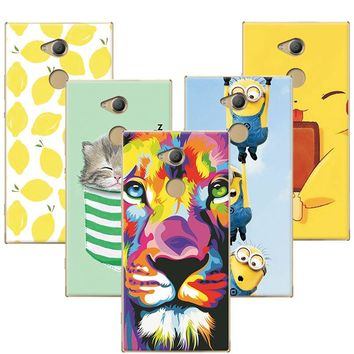 Fruit Painting Cat Lion Minions Phone Cases Coque For Sony Xperia XA2 Ultra Case Cover Capa For Sony XA2 Ultra Fundas +Free Pen