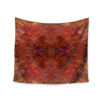 "Nikposium ""Sedona"" Orange red Wall Tapestry"