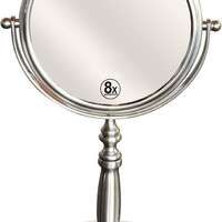 Two-Sided Swivel Vanity Make up 8x Magnification Mirror