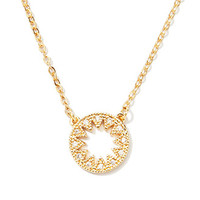 Rhinestone Star Cutout Necklace