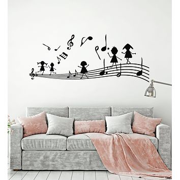 Vinyl Wall Decal Music Notes Musical Keys Kids Room Stickers Mural (g1645)