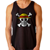 Straw Hat Pirates one piece For Mens Tank Top **