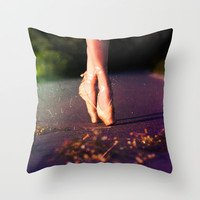 Ballet Steps II Throw Pillow by PhotoStories