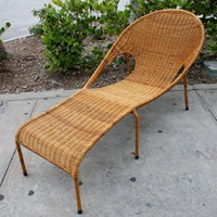 Vintage Mid Century Modern Rattan Woven Iron by thevintagesupplyco