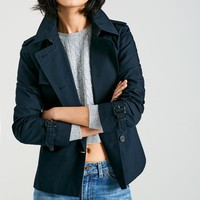 HATHERSHAW CROPPED TRENCH COAT