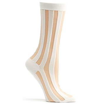 Sheer Pinstripe Sock