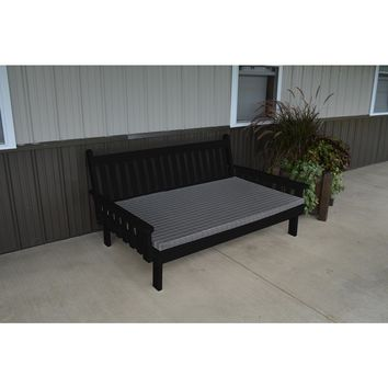 A & L Furniture Co. Yellow Pine 5' Traditional English Daybed  - Ships FREE in 5-7 Business days
