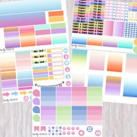 Weekly Planner Sticker Kit, Ombre Sticker Kit, Rainbow Sticker Kit, Weekly Stickers, Planner Stickers, Ombre Stickers (#0197)