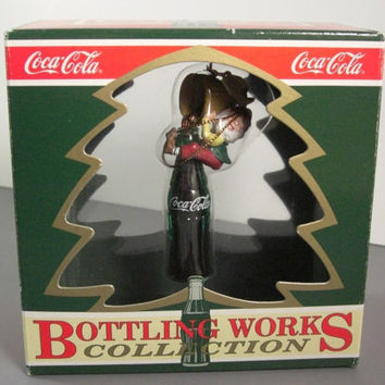 "Coca Cola Bottling Works ""Fill'er Up"" Christmas Ornament // Vintage Coke"