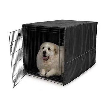 "Midwest Quiet Time Pet Crate Cover Black 48.5"" x 31"" x 31"""