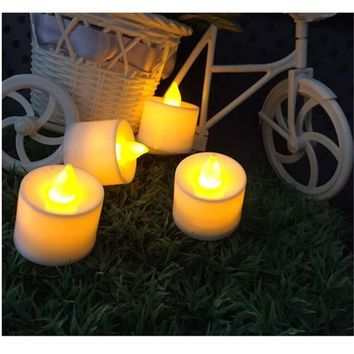 LED Flameless Electric Flashing Small Round Candle