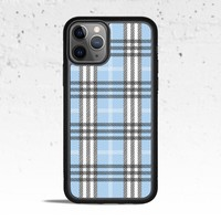 Plaid Blue Phone Case Cover for Apple iPhone Samsung Galaxy S & Note
