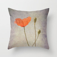 Little poppy  Throw Pillow by Guido Montañés | Society6