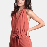 Solar Flare Faux Suede Romper