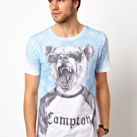 New Look T-Shirt with Compton Bear Print
