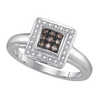Diamond Fashion Ring in Sterling Silver 0.16 ctw