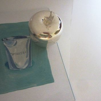 Tiffany And Co Silver Plated Apple Trophy Box