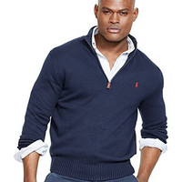 Polo Ralph Lauren Men's Half-Zip Mockneck Sweater, Hunter Navy, S
