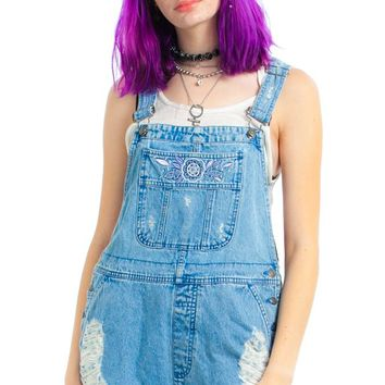 Vintage 90's Daisy Destroy Overalls - One Size Fits Many