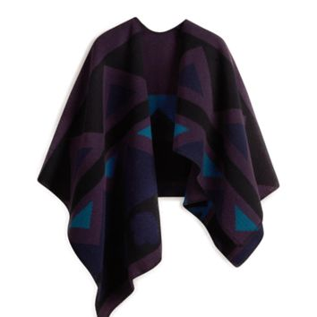 Layla Cape - Dark Purple