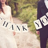 THANK  YOU Vintage Wedding Bunting Banner Photo Booth Props Garland Bridal Shower Wedding Decoration