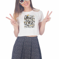 Foster The People art For Womens Crop Shirt ***