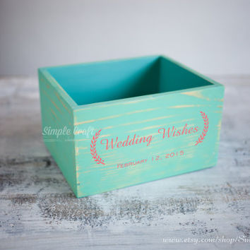 Wedding wishes cards box advice for new parents bridal shower advice cards bridal shower gift for the bride baby box wedding invitation box
