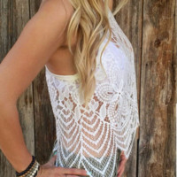 Chic Summer Lace Crochet Vest Tank Top