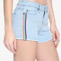 Blackheart Indigo Rainbow Stripe Shorts