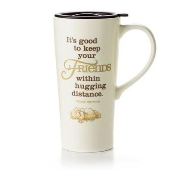 Hallmark Winnie the Pooh Hugging Distance Travel Mug