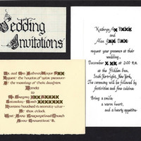 Custom Calligraphy Wedding Invitation, Design Your Own Wedding Invitation, Hand drawn hand lettered Wedding Invitation