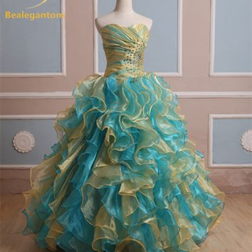 Colorful Organza Style Prom Dress