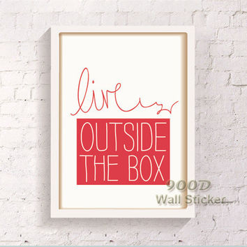 Inspiration Quote Canvas Art Print  Poster, Wall Pictures For child Room Home Decoration Print On Canvas, Frame not include 118